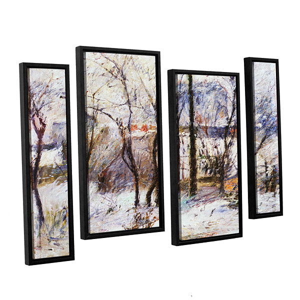 Brushstone Garden Under Snow 4-pc. Floater FramedStaggered Canvas Wall Art