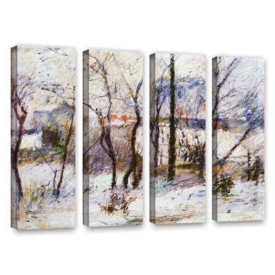 Brushstone Garden Under Snow 4-pc. Gallery WrappedCanvas Wall Art