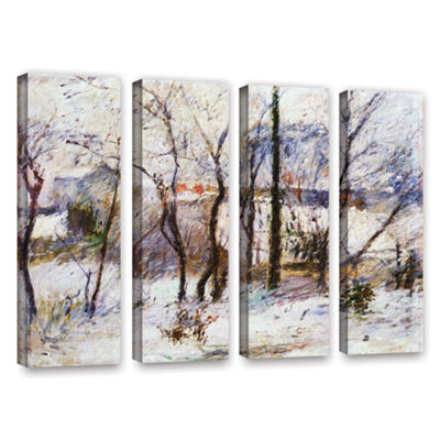 Brushstone Garden Under Snow 4-pc. Gallery WrappedCanvas Wall Art