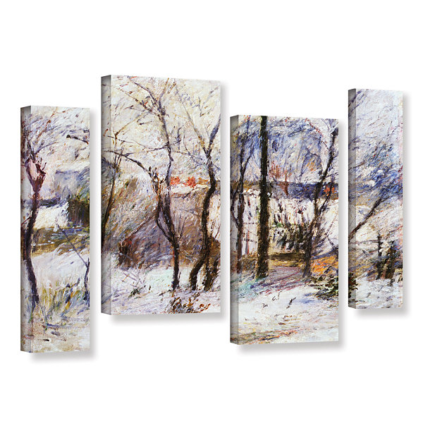Brushstone Garden Under Snow 4-pc. Gallery WrappedStaggered Canvas Wall Art
