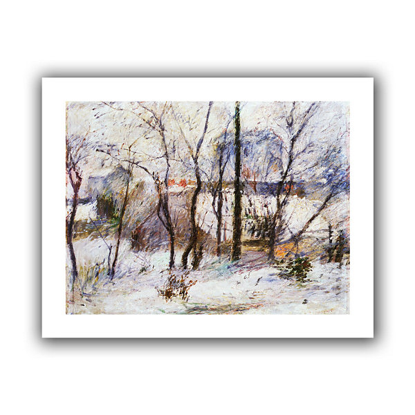Brushstone Garden Under Snow Canvas Wall Art