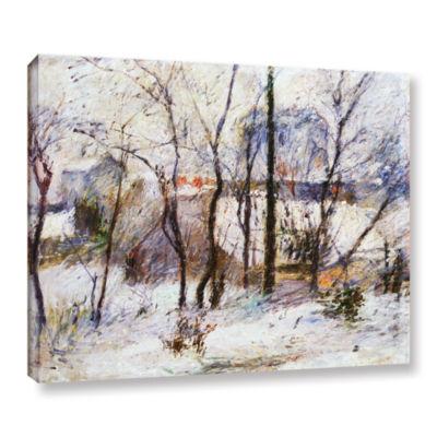 Brushstone Garden Under Snow Gallery Wrapped Canvas Wall Art