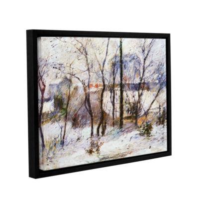 Brushstone Garden Under Snow Gallery Wrapped Floater-Framed Canvas Wall Art