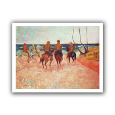Brushstone Horseman on The Beach Canvas Wall Art