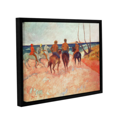 Brushstone Horseman on The Beach Gallery Wrapped Floater-Framed Canvas Wall Art