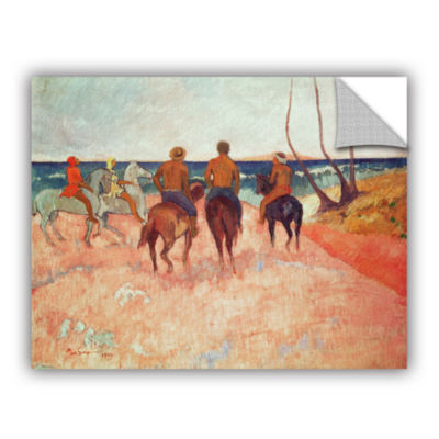 Brushstone Horseman on The Beach Removable Wall Decal