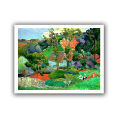 Brushstone Landscape at Pont Aven Canvas Wall Art