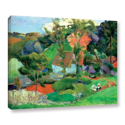 Brushstone Landscape at Pont Aven Gallery WrappedCanvas Wall Art