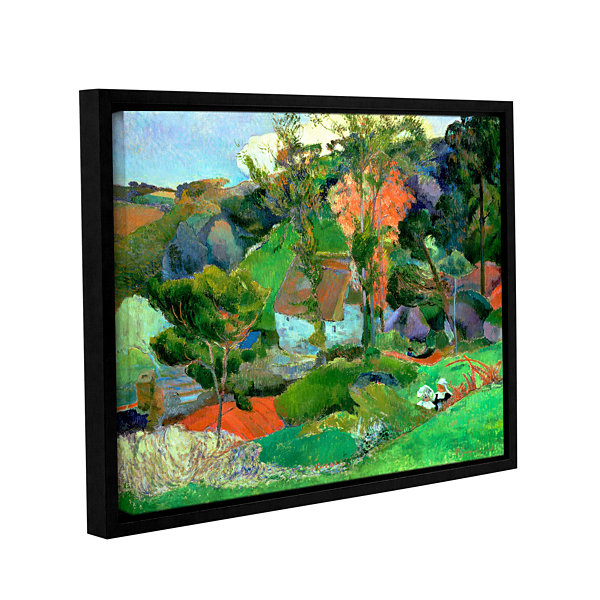Brushstone Landscape at Pont Aven Gallery WrappedFloater-Framed Canvas Wall Art