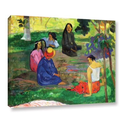 Brushstone Les Parau Parau  The Gossippers GalleryWrapped Canvas Wall Art