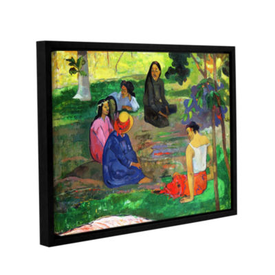 Brushstone Les Parau Parau  The Gossippers GalleryWrapped Floater-Framed Canvas Wall Art