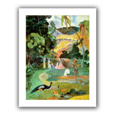 Brushstone Matamoe  Landscape with Peacocks CanvasWall Art