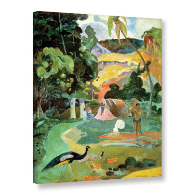 Brushstone Matamoe  Landscape with Peacocks Gallery Wrapped Canvas Wall Art