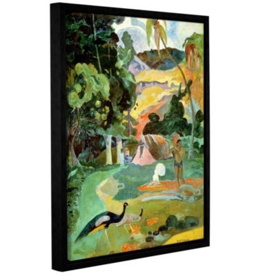 Brushstone Matamoe  Landscape with Peacocks Gallery Wrapped Floater-Framed Canvas Wall Art