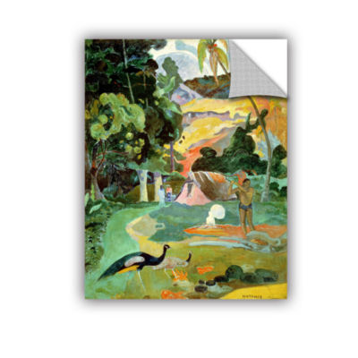 Brushstone Matamoe  Landscape with Peacocks Removable Wall Decal