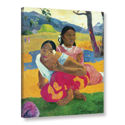 Brushstone Nafea Faaipoipo  When Are You Getting Married? Gallery Wrapped Canvas Wall Art