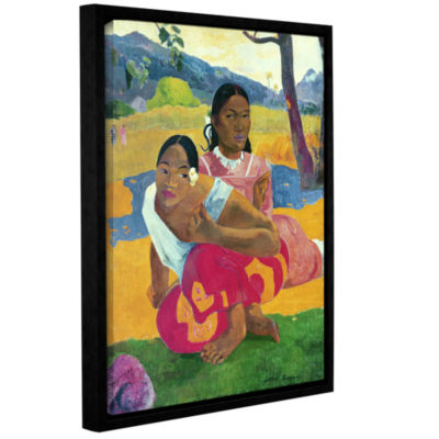 Brushstone Nafea Faaipoipo  When Are You Getting Married? Gallery Wrapped Floater-Framed Canvas WallArt