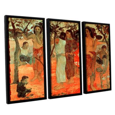 Brushstone Nave Nave Mahana Delightful Days 3-pc.Floater Framed Canvas Wall Art