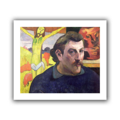 Brushstone Self Portrait with Yellow Christ CanvasWall Art