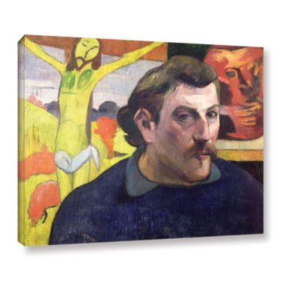 Brushstone Self Portrait with Yellow Christ Gallery Wrapped Canvas Wall Art