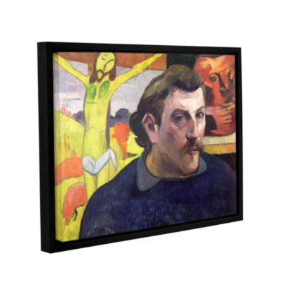 Brushstone Self Portrait with Yellow Christ Gallery Wrapped Floater-Framed Canvas Wall Art