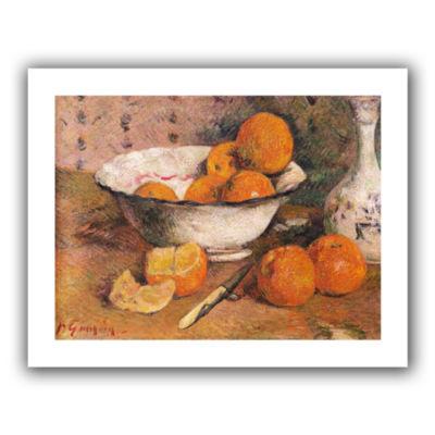 Brushstone Still Life With Oranges Canvas Wall Art
