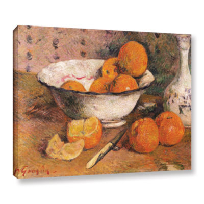 Brushstone Still Life With Oranges Gallery WrappedCanvas Wall Art