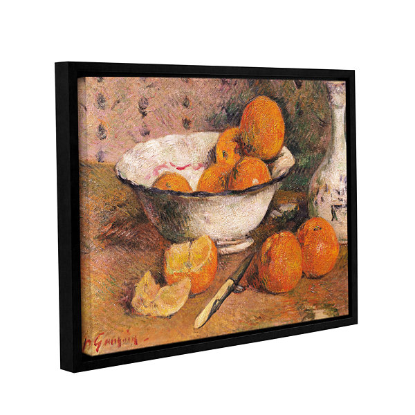 Brushstone Still Life With Oranges Gallery WrappedFloater-Framed Canvas Wall Art