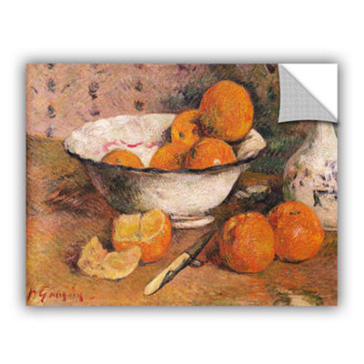 Brushstone Still Life With Oranges Removable WallDecal