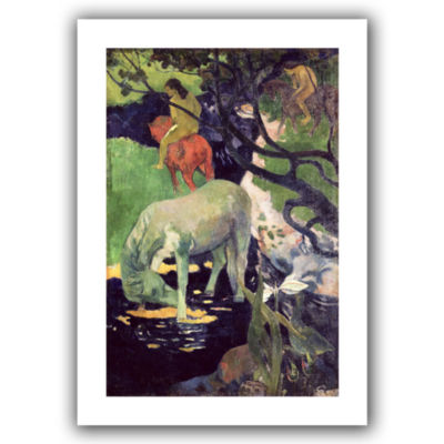 Brushstone The White Horse Canvas Wall Art