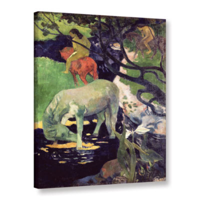 Brushstone The White Horse Gallery Wrapped CanvasWall Art