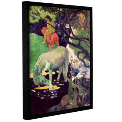 Brushstone The White Horse Gallery Wrapped Floater-Framed Canvas Wall Art
