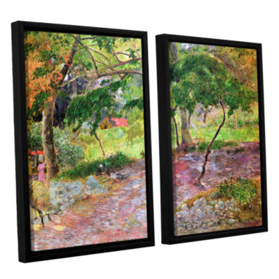 Brushstone Tropical Landscape  Martinique 2-pc. Floater Framed Canvas Wall Art