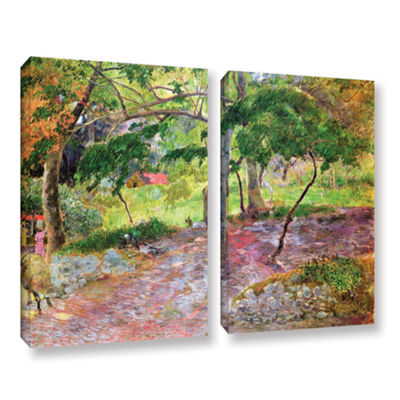 Brushstone Tropical Landscape  Martinique 2-pc. Gallery Wrapped Canvas Wall Art