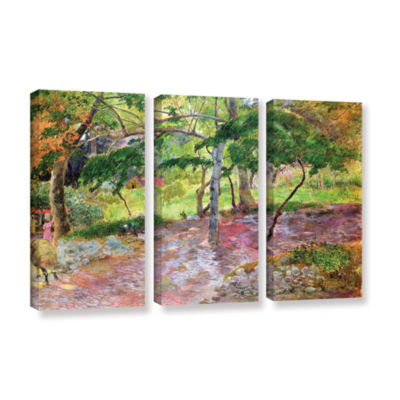 Brushstone Tropical Landscape  Martinique 3-pc. Gallery Wrapped Canvas Wall Art