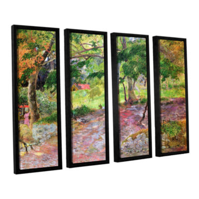 Brushstone Tropical Landscape  Martinique 4-pc. Floater Framed Canvas Wall Art