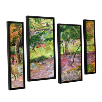 Brushstone Tropical Landscape  Martinique 4-pc. Floater Framed Staggered Canvas Wall Art