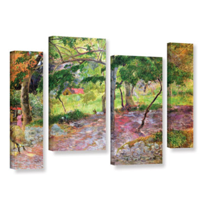 Brushstone Tropical Landscape  Martinique 4-pc. Gallery Wrapped Staggered Canvas Wall Art