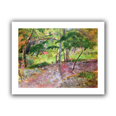 Brushstone Tropical Landscape  Martinique Canvas Wall Art