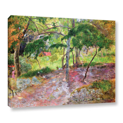 Brushstone Tropical Landscape  Martinique GalleryWrapped Canvas Wall Art