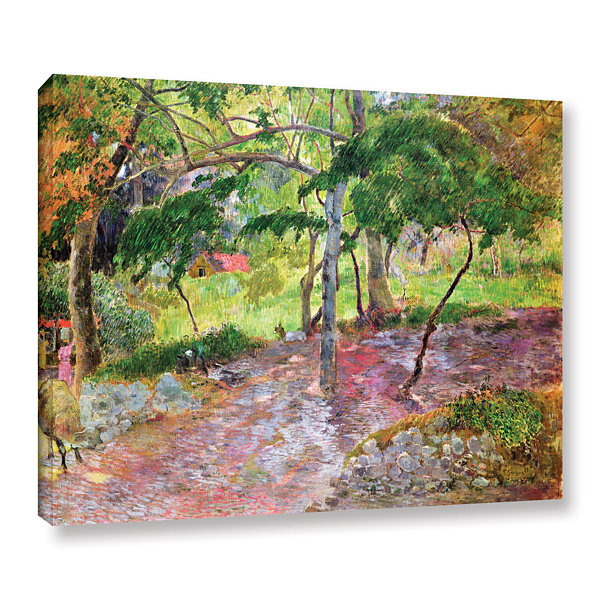 Brushstone Tropical Landscape  Martinique GalleryWrapped Canvas Wall Art
