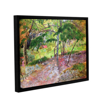 Brushstone Tropical Landscape  Martinique GalleryWrapped Floater-Framed Canvas Wall Art