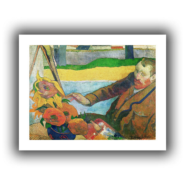 Brushstone Van Gogh Painting Sunflowers Canvas Wall Art