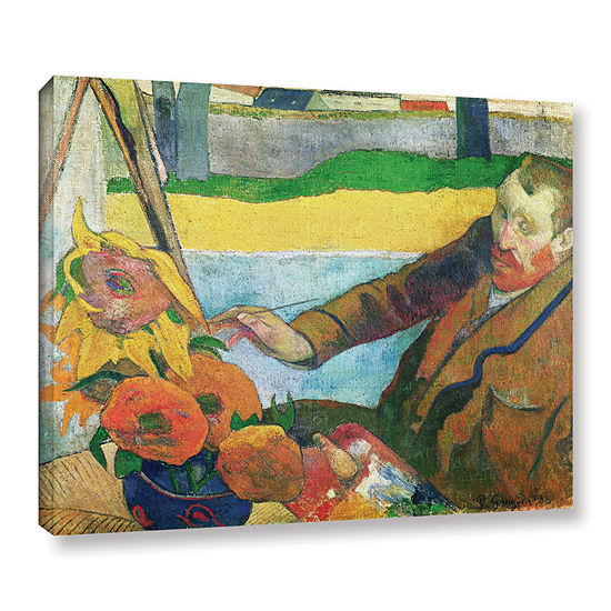 Brushstone Van Gogh Painting Sunflowers Gallery Wrapped Canvas Wall ...