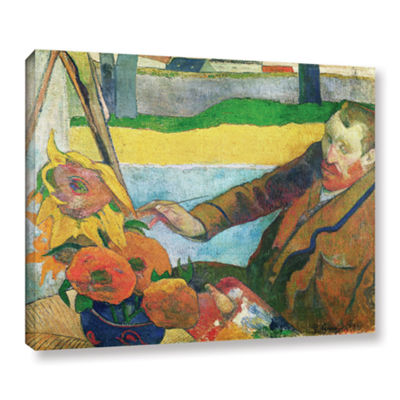 Brushstone Van Gogh Painting Sunflowers Gallery Wrapped Canvas Wall Art