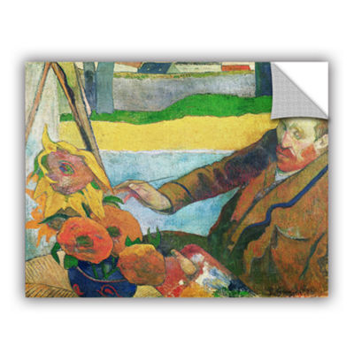 Brushstone Van Gogh Painting Sunflowers RemovableWall Decal