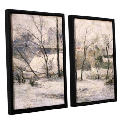 Brushstone Winter Landscape 2-pc. Floater Framed Canvas Wall Art