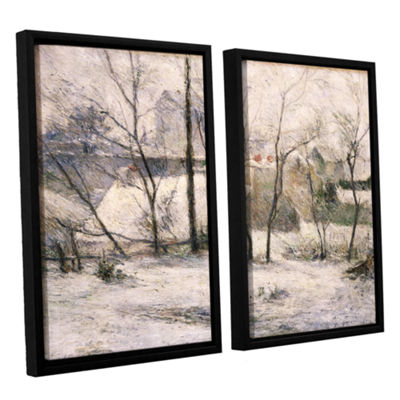 Brushstone Winter Landscape 2-pc. Floater Framed Canvas Wall Art