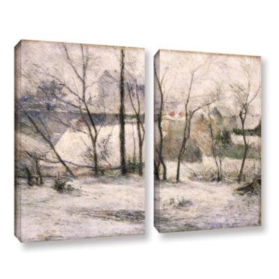 Brushstone Winter Landscape 2-pc. Gallery WrappedCanvas Wall Art