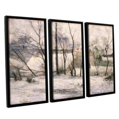 Brushstone Winter Landscape 3-pc. Floater Framed Canvas Wall Art